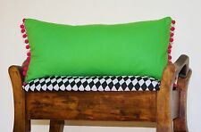 Oblong Cushion Covers Rectangle 'Greenery' Colour 2017 Lime Bolster Apple Green