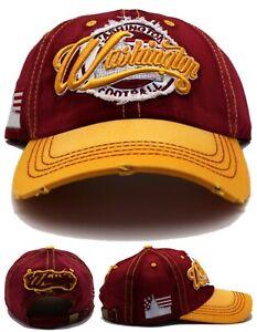 Washington New Ladies Woman Vintage Football Team CLRS Burgundy Gold Era Hat Cap