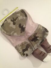 Baby Starters Boy Camo Army Green Bib Booties Socks Novelty Gift Set Layette