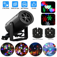Outdoor Snowflake LED Light Moving Snow Laser Projector Garden Party Decor Lamp
