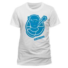 Official Ed Sheeran Pictogram Logo T Shirt Blue Doodle on White NEW S M L XL