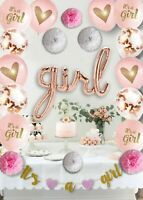 Baby Shower Decorations for Girl Rose Pink Kit, Party Supplies,Party Decor Set.