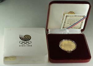 1987/1988 Seoul South Korea 50,000 Won South Gate 1 Oz Olympic Gold Proof Coin