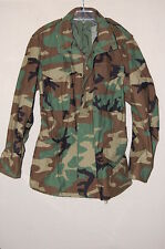 Mens Cold Weather Field Woodland Camouflage Coat/Jacket Medium Long EXCELLENT!