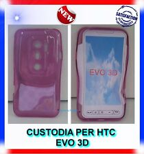 Custodia+Pellicola COVER CERCHI-PURPLE  per HTC EVO 3D