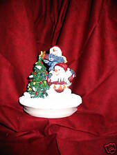Snowman Jar Candle cover box new in box