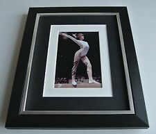 Nadia Comaneci SIGNED 10x8 FRAMED Photo Autograph Display Olympics AFTAL & COA