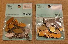Bead Landing Eliments Blanks -Us, 15 Pcs - Oval, 20 pcs - Silver, Gold & Bronze