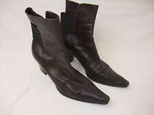 Vintage Jil Sander Women's Brown Ankle Boots Size 36