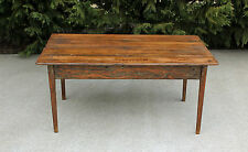 NC Country Primitive Southern Pine Wide Plank Board Farm House Table 19th C