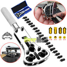 Wrench Screw Remover Watch Back Case Battery Cover Opener Repair Tool Set Kit US