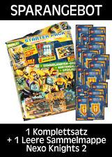 LEGO Nexo Knights 2 - Trading Cards - 1 Komplettsatz + 1 Sammelmappe - Deutsch