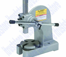 1 TON CAST IRON BENCH MOUNT MOUNTED HAND OPERATED ARBOR BEARING PRESS TOOL