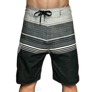 Mens Quiksilver Shorts Quick-Dry Swimming Pants Beach Board 30-38 Grey Surf
