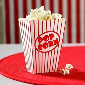 Popcorn Boxes Movie Hollywood Birthday Party Cinema Treat Paper Bags Sealed Pack