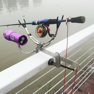 Durable Fishing Rod Bracket Clip-on Adjustable Rod Holder Frame Stainless Steel