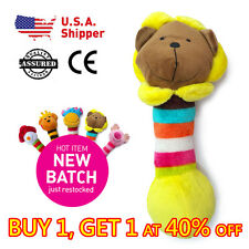 Lion - Pet Puppy Chew Squeaker Squeaky Squeak Soft Plush Cute Dog Toy
