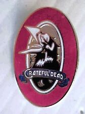 GRATEFUL DEAD  1 1/4 inch CROW LOGO  CLOISSONE PIN 1980'S ERA