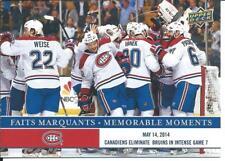 2017-18 NHL Montreal Canadiens Memorable Moments MONTREAL Eliminate Bruins #MC-5