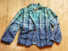 Old Navy Girls Ombre Blue Plaid Blazer Jacket 3/4 - Long Sleeve M Pre-owned