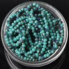 500pcs 4x3mm Rondelle Faceted Crystal Glass Loose Beads Purple&Opaque Turquoise