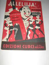 Spartito originale - ALLELUJA MACARIO MOULIN ROUGE 1946