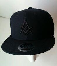 Masonic Hat OTTO Snapback All Black One Size Fits Most Freemasonry Mason Gears