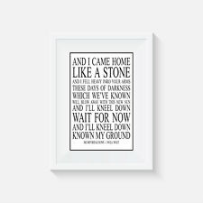 Mumford and Sons, print, poster, music, quote, wall art, gift, picture, home