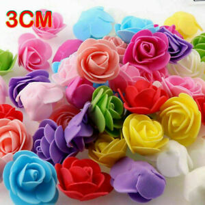 500 Foam Mini Roses WHOLESALE Heads Buds Small Flowers Wedding Home Partys UK