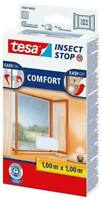 tesa Insect Stop Fliegengitter COMFORT für Fenster weiß/antrhazit Insektenschutz