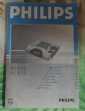 Ancien Manuel , Documentation Philips AJ 3010 & 3012 Réveil Radio 1989