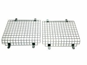 Land Rover Defender Galvanized Front Mesh Light Guards /Cage SET 345985 New