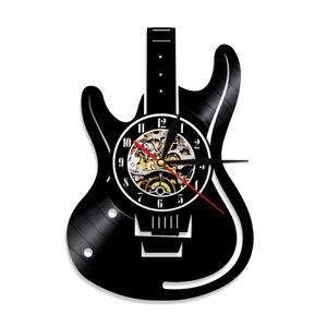 Guitar Musical Instrument Vinyl Album Home Décor Wall Clock