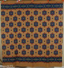 GORGEOUS Vintage 30's Esmond Mills Camp Blanket ~NICE COLORS & INDIAN DESIGN!