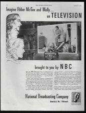 1944 Vintage Print Ads 40's NBC National Broadcasting Company TV Television