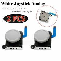 White Joystick Analog Sensor Rocker Replace forNS Switch Lite/Joy-Con Controller