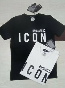 Dsquared2 ICON Mens Tshirt Top Cotton Regular Fit Short Sleeve brand new