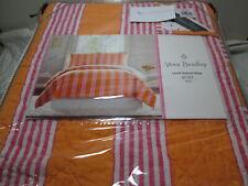 3 pc Vera Bradley LOUISA King Quilt and Shams Set ~ Pink, Orange, White Stripe