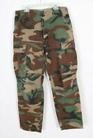 US ARMY WOODLAND Camo Camouflage BDU Hot Weather Pants USA Mens Size Small