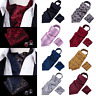USA Multi Color Mens Ascot Silk Cravat Ascot Jacquard Woven Set Neck Tie Scraf
