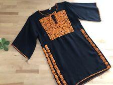New listing Vtg 60s/70s Embroidered Folk Tunic Top Boho Hippie Gypsy Ethnic Festival Saffron