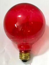 LAMPADA A GLOBO LUCE ROSSA CHIARA 100 WATT E27 LAMPADINA SFERA ROSSO DIAM 10 CM