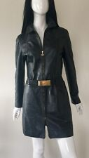 VERSACE Jeans Couture Designer Leather Ladies Coat size 44IT/M/10UK better fit
