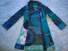 Desigual blue/green coat original woman size 40, BNWT