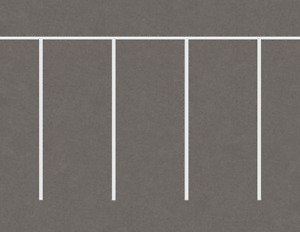 O Scale Parking Lot Straight Model Train Scenery Sheets –5 Seamless 8.5x11