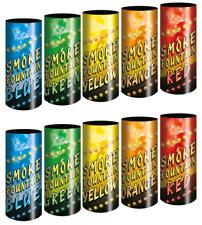 Pack 10 fumigènes couleurs pour événement, Mariage, Paintball, Airsoft