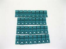 32 Piece Teal Plastic Brake Fuel Line Clamps Chevy Ford GM Street Rod Clamp
