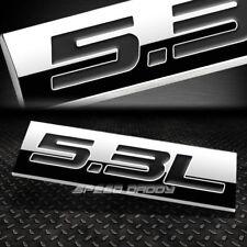 METAL EMBLEM CAR BUMPER TRUNK FENDER DECAL LOGO BADGE CHROME BLACK 5.3L 5.3 L