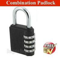 GENUINE 3/4 Dial Combination Padlock for Locker Door Luggage Suitcase Lock (UK)