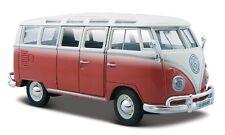 Volkswagen VW T2 Van Samba 1962 Red W/ White Roof 1:25 MAISTO
